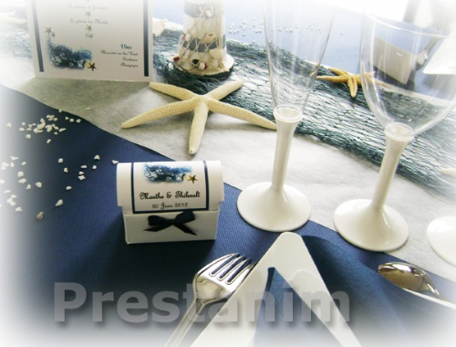 Pour des drag es de mariage originales d corations pour un mariage - Decoration theme marin ...