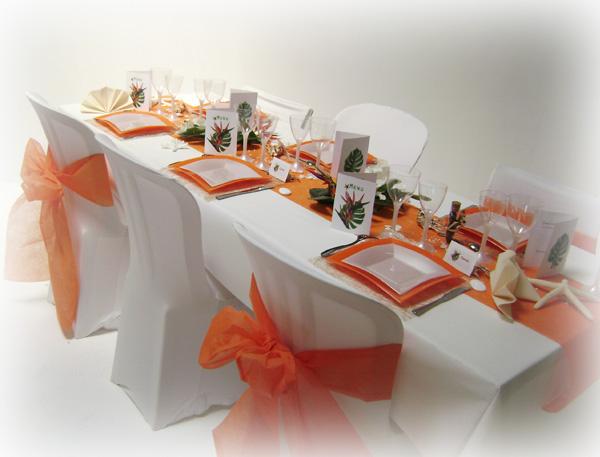 D cos de mariage exotique d corations pour un mariage for Deco de table orange