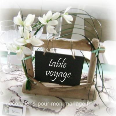 jolie d coration de table th me voyage d corations pour. Black Bedroom Furniture Sets. Home Design Ideas