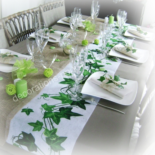 D coration mariage et f te nature th me champ tre - Decoration table mariage nature ...
