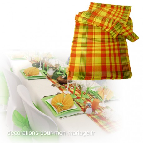 chemin-de-table-madras-jaune