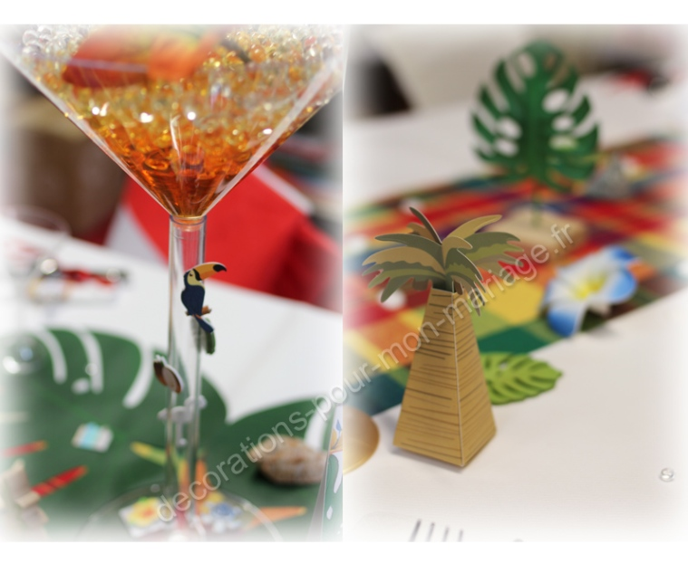 decorations-de-table-tropicales-exotique-verre-martini-et-palmier
