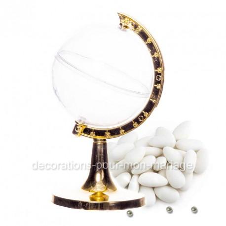 contenant-dragees-globe-pied-or-de-9-cm