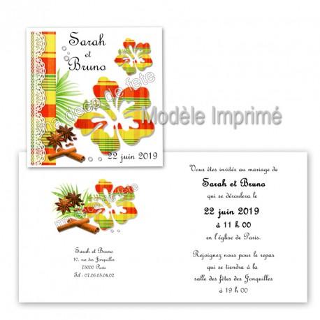 faire-part-hibiscus-madras-jaune-1
